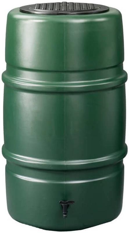 Kunststof regenton groen