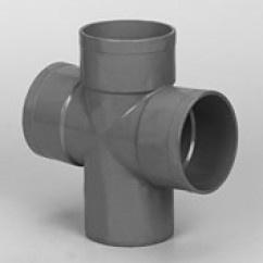 Dubbel T-Stuk 90° Afvoer PVC Lijm