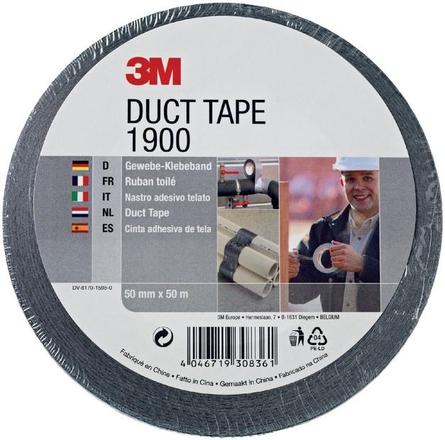 3M Duct Tape  - Zwart 50mm x 50 mtr