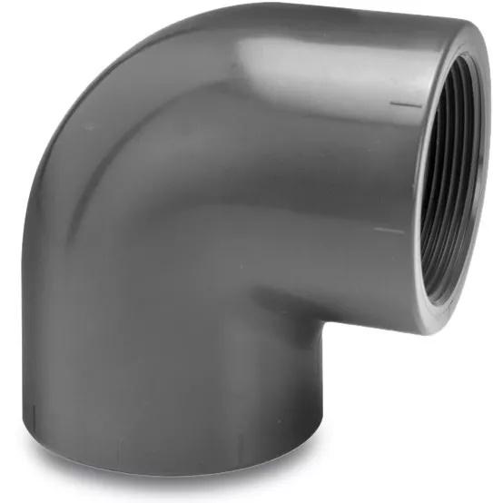 Knie 90° Druk PVC - Binnendraad