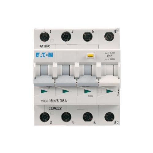 Eaton aardlekautomaat 3P+N 16A Bkar 30mA
