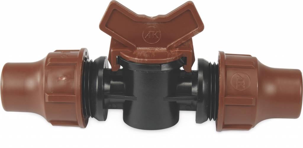 Rain Bird Plugkraan PE 16 mm lock bruin