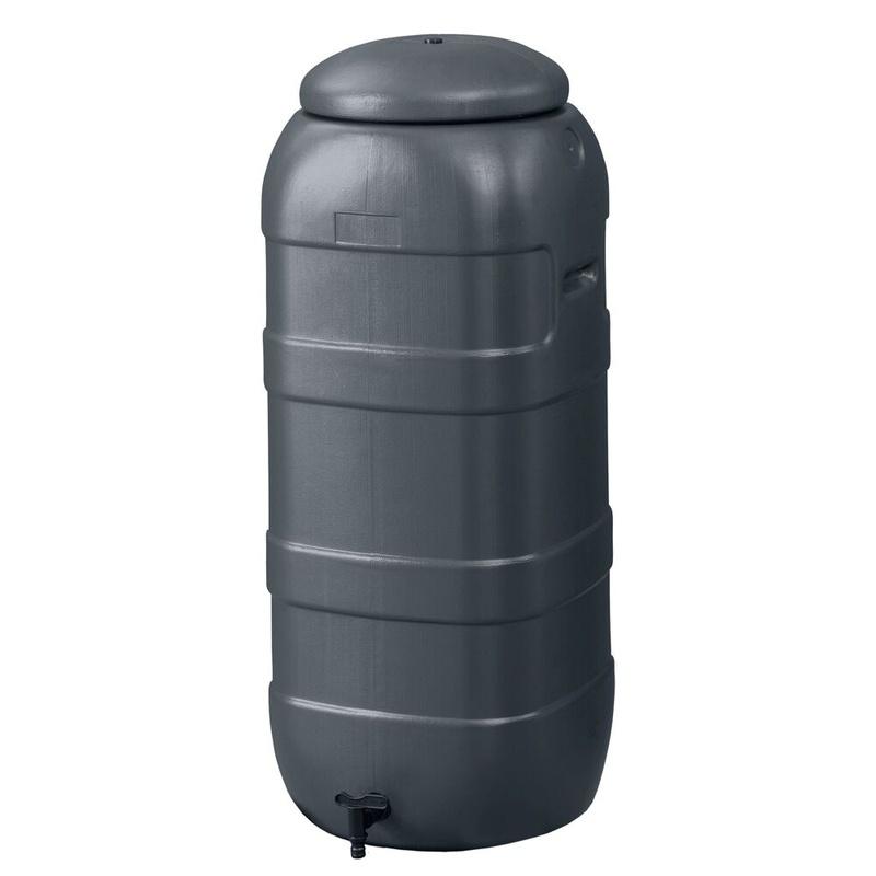 Kunststof regenton grijs ca. 100 liter