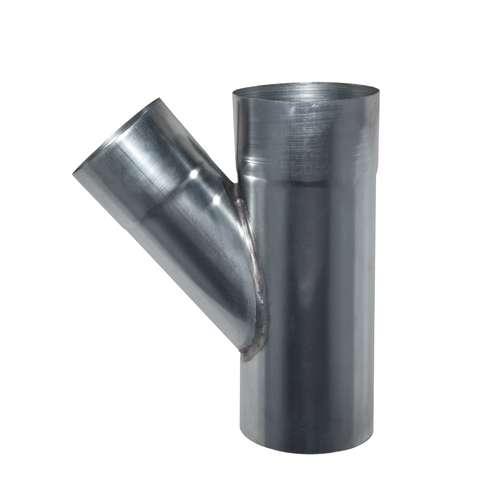 Zink T-stuk Ø80 mm 45°