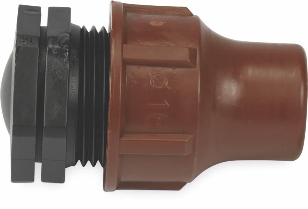 Rain Bird Eindplug PP 16 mm lock bruin t